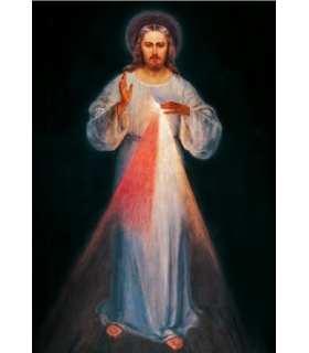"""Carte Prière """"Chapelet de la Miséricorde"""" (CA14-0018)"""