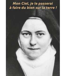 "Poster / affiche Sainte-Therese religieuse ""Mon ciel"""