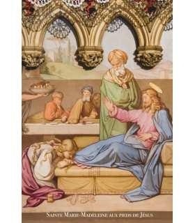 Poster / affiche Sainte Marie-Madeleine essuyant les pieds de Jésus