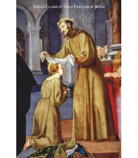 Poster / affiche Saint François d'Assise et Sainte Claire (reçoit le voile)