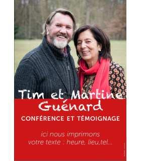 Poster / affiche Tim et Martine Guénard - invitation aux conférences et témoignages