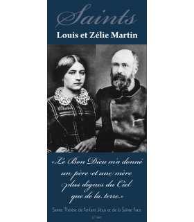 Kakémono Saints Louis et Zélie Martin (sur Fond bleu) (KM15-0025)