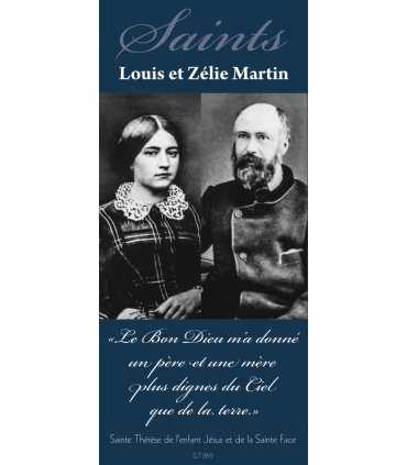 Kakémono Saints Louis et Zélie Martin (sur Fond bleu)