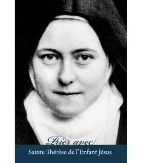 """Carte Prière """"Prier avec Sainte Thérèse de l'Enfant Jésus"""" (CA15-0004)"""
