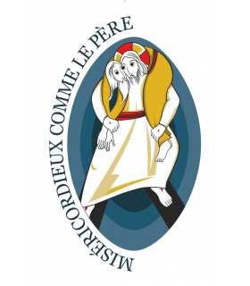 """Poster / affiche Année Sainte de la Miséricorde - Laisser-vous réconcilier (Logo """"simple"""" et officiel fournie par les diocèses)"""