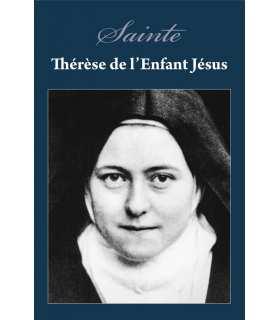 Poster / affiche Sainte-Therese religieuse (sur fond bleu)