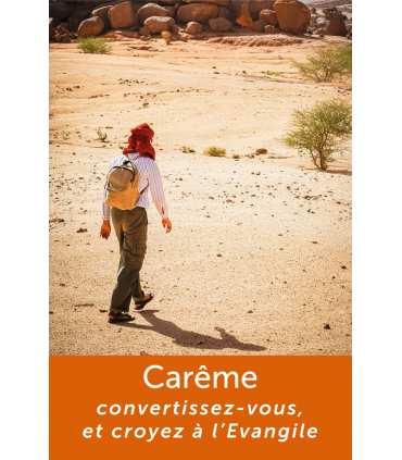 Poster / affiche Carême : Convertissez-vous et croyez à l'Evangile