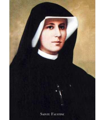 Poster / affiche Sainte Soeur Faustine Kowalska
