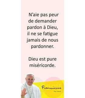 Kakémono Pape François (citation : N'aie pas peur...) (KM14-0026)