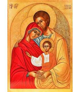 Grand Format Icône de la Sainte Famille des Bénédictines du Mont des Oliviers (Jérusalem)
