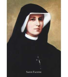 """Carte Prière """"Jésus, j'ai confiance en toi"""" - Sainte Soeur Faustine (CA15-0008)"""