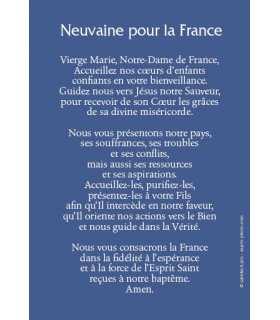 """Carte Prière """"Neuvaine pour la France"""""""