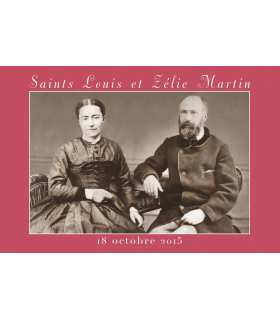 Carte postal version 1 - Saints Louis et Zélie Martin - 18 octobre 2015
