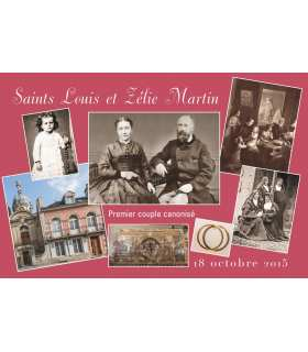 Carte postal 3 - Saints Louis et Zélie Martin - 1er couple canonisé
