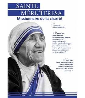 Canonisation de Mère Teresa de Calcutta le 4 septembre 2016 à Rome par le Pape François (Série de 10 affiches) (EX15-0008)