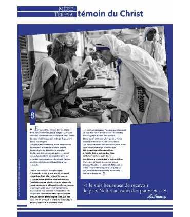 Canonisation de Mère Teresa le 4 septembre 2016 à Rome par le Pape François (Série de 10 affiches)