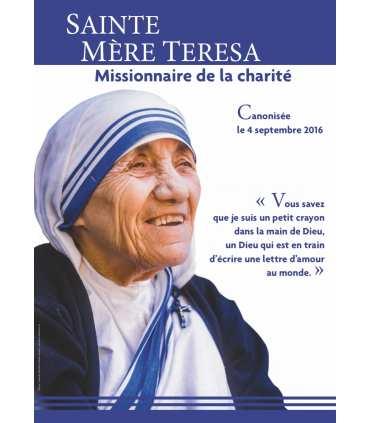 Poster Sainte Mère Teresa - Canonisation (couleurs) (PO15-0036)