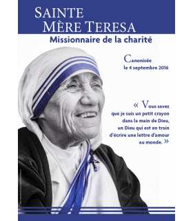 Poster / bâche / affiche - (image - photo black and white) de ST MÈRE TERESA