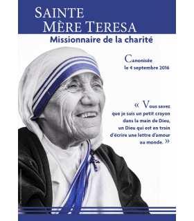 Poster Sainte Mère Teresa - Canonisation (noir et blanc) (PO15-0037)