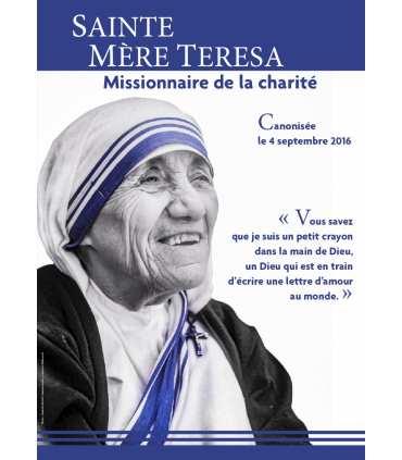 Poster / affiche Carême : Mère Teresa - Canonisation (photo noir et blanc)