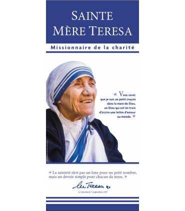 KAKEMONO Canonisation Mere-Teresa de Calcutta - Missionnaire de la charité (couleur)