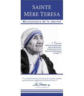 Kakémono Canonisation Mère Teresa de Calcutta - Missionnaire de la charité (noir et blanc) (KM15-0034)