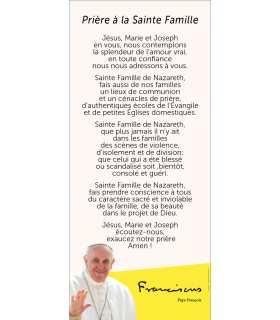 Kakémono Pape François (Prière à la Sante Famille)