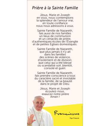 Kakémono Pape François (Prière à la Sainte Famille) (KM14-0028)