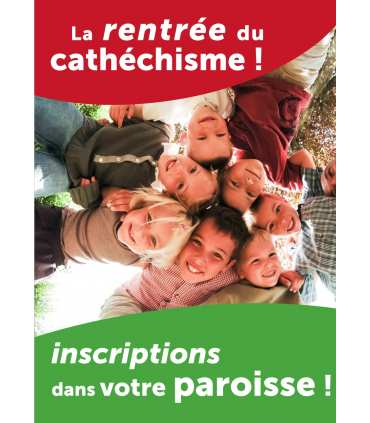 Poster/affiche Catechisme Personnalisable (PO15-0039)