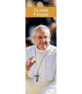 """Lot de 10 Signet """"Prier avec"""" Le pape François version 2"""