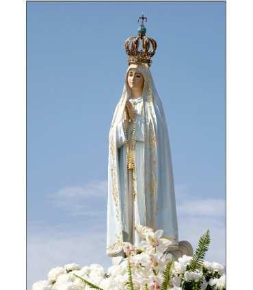 """Carte Prière """"Notre Dame de Fatima - Consécration au coeur Immaculé de Marie"""" (CA15-0014)"""