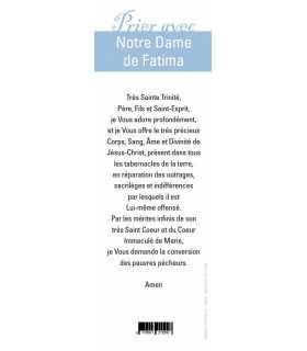 """Lot de 10 Signets """"Prier avec"""" Notre Dame de Fatima"""