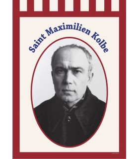 Bannière Saint Maximilien Kolbe (BA16-0008)