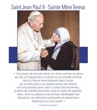 Poster Saint Jean-Paul II - Sainte Mère Teresa (PO15-0047)
