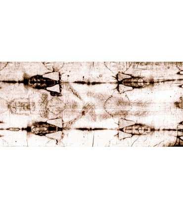 """Grand Format """"Linceul de Turin face"""" (face avant négatif, 100x210cm) (GF15-0017_R2.10)"""