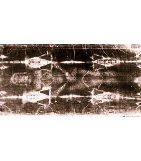 "Grand Format ""Linceul de Turin face"" (face avant positif) version SEPIA (100x210cm) (GF15-0022_R2.13)"