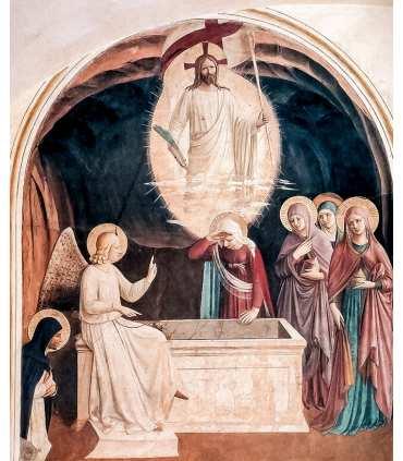 Grand format Fra Angelico la Résurrection avec les femmes au tombeau
