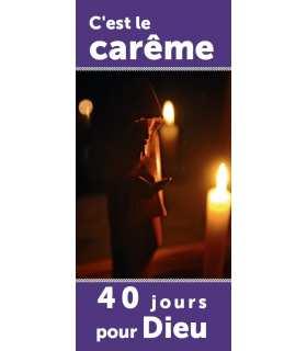 Kakémono liturgique : Carême (KM15-0043)