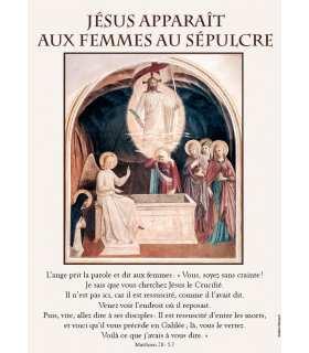 Poster Jésus apparait aux femmes au sépulcre (PO15-0051)