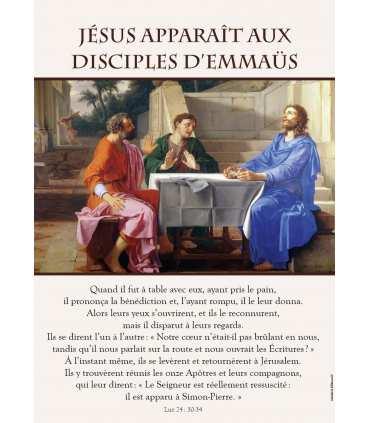 Poster Jésus apparait aux disciples d'Emmaüs
