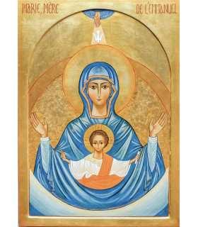"""Grand Format """"Icône de Marie, Mère de l'Emmanuel"""" (GF15-0058)"""