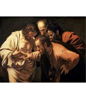 "Grand Format ""L'incrédulité de Saint Thomas"" du peintre Caravage  (GF15-0060)"