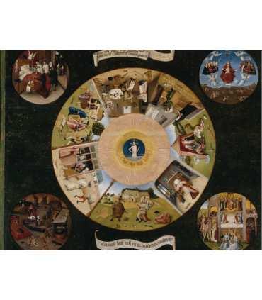 """Grand Format """"Les sept péchés capitaux"""" du peintre Hieronymus Bosch  (GF15-0064)"""