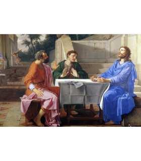 "Grand Format ""Les disciples d'Emmaüs"" du peintre Laurent de la Hyre (GF15-0066)"