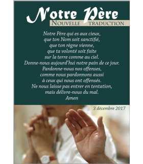 """Carte Prière """"Notre Père"""" (nouvelle traduction) (CA15-0017)"""