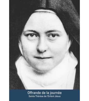 """Carte Prière """"Sainte Thérèse de l'Enfant Jésus"""" (CA15-0005)"""