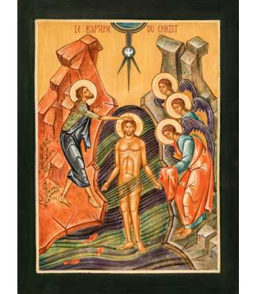 Grand Format Icône du Baptême du Christ (GF15-0069)