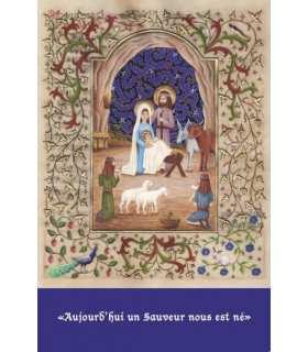 """Enluminures - """"Aujourd'hui un Sauveur..."""" (CP14-0029_SAT0198)"""