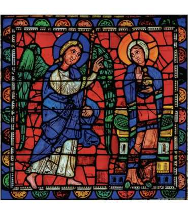 "Grand Format Vitrail de Chartres ""Annonciation"" (GF15-0070)"