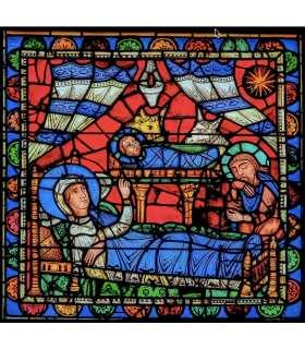"Grand Format Vitrail de Chartres ""Nativité"" (GF15-0072)"